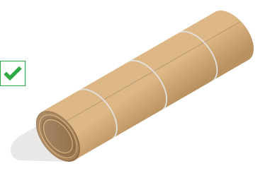 A parcel with banding